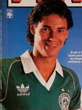 O primeiro clube profissional de Evair foi o Guarani, de Capinas
