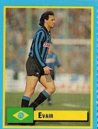 Figurinha (quem não gosta de colecionar, né?) de Evair em ação pela Atalanta, no Calcio